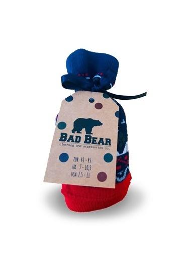 Bad Bear Bad Bear Erkek Baskılı Çorap 19.02.02.035 Kırmızı